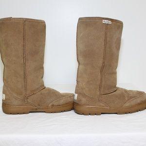 Bearpaw Emma Tall Suede Leather Sheepskin Women 9